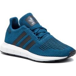 52534d177c05 Buty sportowe dziecięce Adidas z tworzywa sztucznego sznurowane
