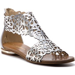 bc7b0dc2 Roberto sandały damskie bez wzorów na lato srebrne