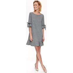 502b5af7b3 Top Secret sukienka z długim rękawem szara z okrągłym dekoltem midi