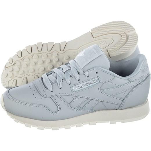 Buty sportowe damskie Reebok na wiosnę bez wzorów płaskie sznurowane skórzane