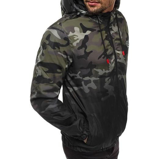 Bluza męska Ozonee moro w militarnym stylu Odzież Męska BP