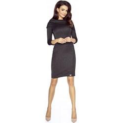 33bf91bae4 Sukienka Bergamo midi z długimi rękawami z dekoltem woda