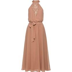 0423b66c71 Sukienka Bodyflirt Boutique różowa na wesele maxi bez rękawów