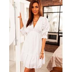 2ca340e253 Sukienka Selfieroom z długim rękawem midi bez wzorów
