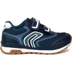 760dcb96 Granatowe buty sportowe dziecięce Geox gładkie jesienne