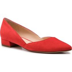 36ba3cc326 Czerwone balerinki Högl z tworzywa sztucznego casual ...