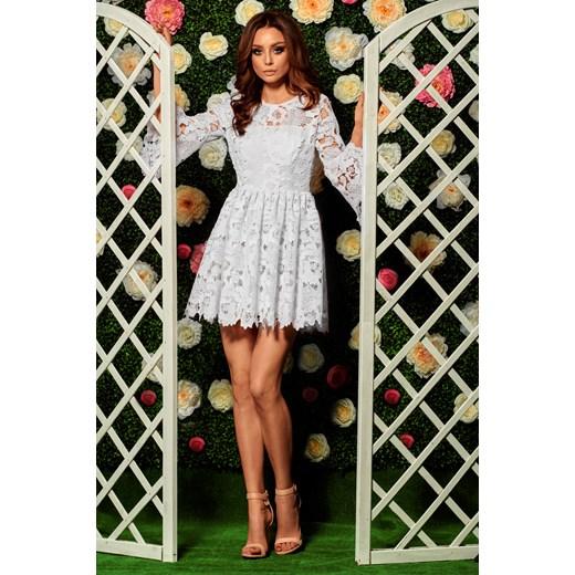 f0ddeee43d6ddf Sukienka Lemoniade na uczelnię biała w Domodi