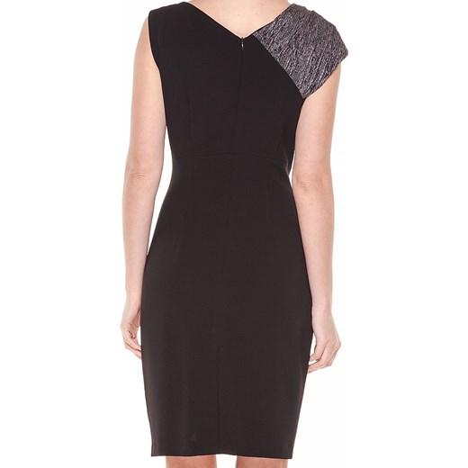 d4e5e833af ... Sukienka Vitovergelis elegancka midi bez rękawów czarna bez wzorów ...