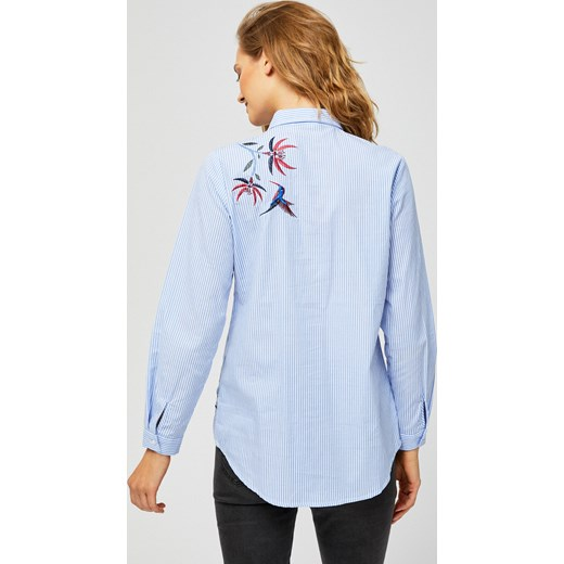 Koszula damska z długim rękawem z kołnierzykiem Odzież