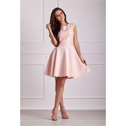 34154bc2d4 Sukienka Numoco z krótkim rękawem bez wzorów midi z okrągłym dekoltem z  wiskozy