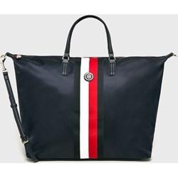 bc4ca38c45c76 Shopper bag Tommy Hilfiger ze skóry ekologicznej