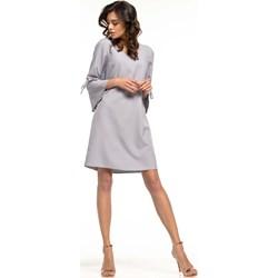 7747681e0e Tessita sukienka z okrągłym dekoltem midi