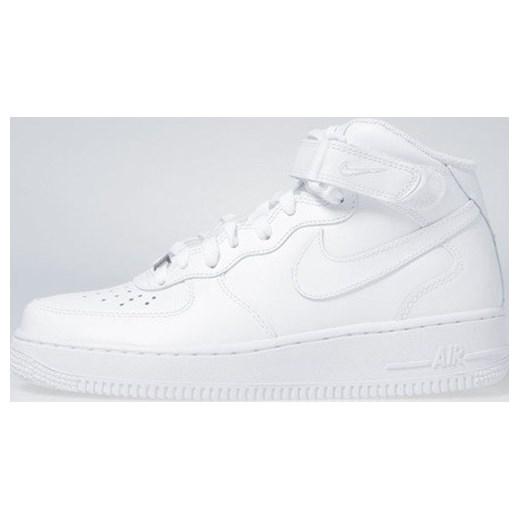 Buty sportowe damskie Nike do biegania air force bez wzorów sznurowane płaskie