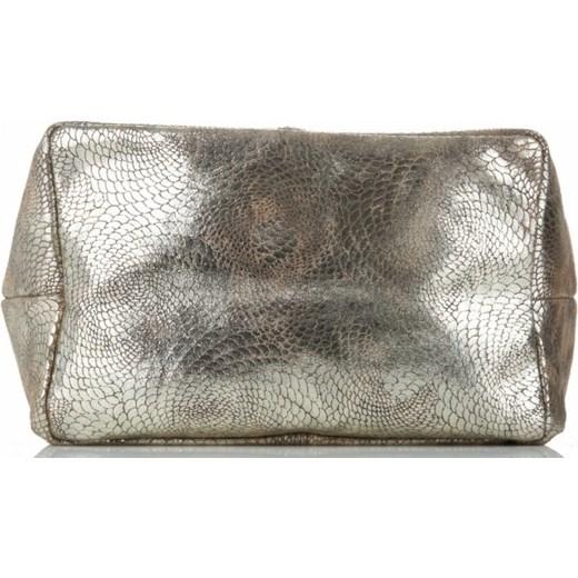 4391165ef627b6 ... Vittoria Gotti shopper bag duża do ręki ze skóry z frędzlami glamour