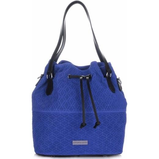 ac0698a1ec3fc Ekskluzywne Torebki Skórzane Vittoria Gotti Made in Italy Kobalt (kolory)  niebieski okazja PaniTorbalska