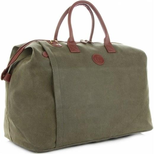 54bef0760e50f David Jones torba podróżna zielona dla mężczyzn ze skóry ekologicznej ...