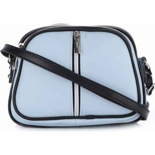 d2409adde5168 Małe Torebki Skórzane Listonoszki firmy Genuine Leather Błękitne (kolory)  PaniTorbalska. Zobacz: Genuine Leather