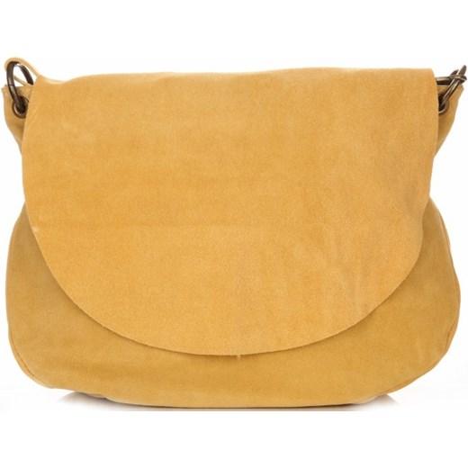 fa3b8ed6a7c0a Uniwersalna Torebka Skórzana Listonoszka Genuine Leather Żółta (kolory)  brazowy PaniTorbalska