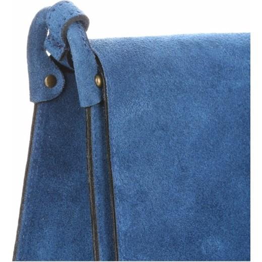 face4e41f2aee Torebki Listonoszki Skórzane Firmy Genuine Leather Niebieska (kolory)  PaniTorbalska w Domodi