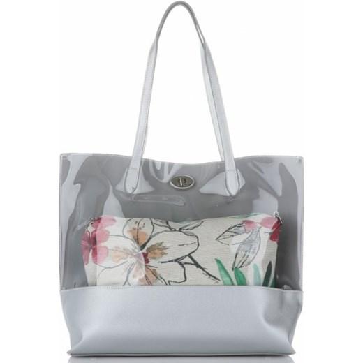 d8927421d02b7 Shopper bag David Jones  Shopper bag David Jones ze skóry ekologicznej  matowa na ramię w stylu młodzieżowym ...