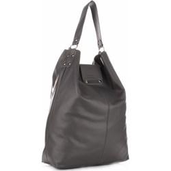 393e7e1c934df Torba Skórzana Duży Shopper Bag XXL Szara (kolory) - zdjęcie produktu