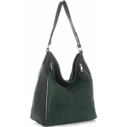 3d4c7a05f2e9f Zielona shopper bag Vittoria Gotti matowa duża boho na ramię bez dodatków