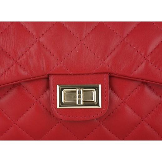 3d9106df668e6 Włoska Pikowana Torebka ze skóry naturalnej Listonoszka firmy Genuine  Leather Czerwona (kolory) czerwony PaniTorbalska. Zobacz  Genuine Leather