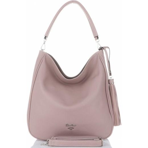 186cb40a70ece Shopper bag różowa David Jones matowa w Domodi