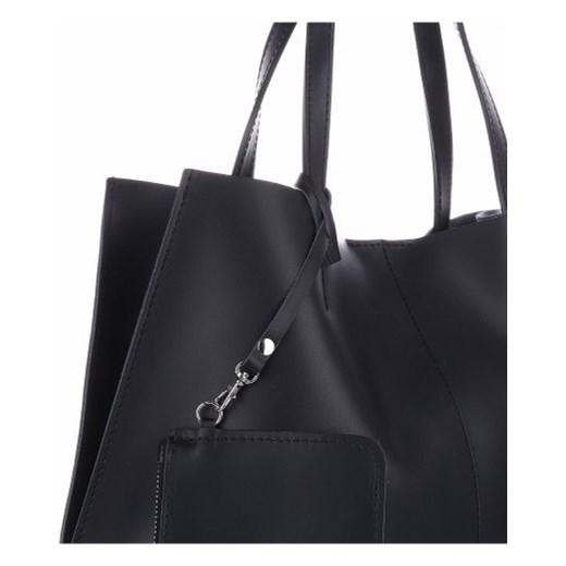 333c7b6244205 VITTORIA GOTTI Made in Italy Modna Torebka Skórzana z Kosmetyczką Czarna  (kolory) czarny PaniTorbalska w Domodi