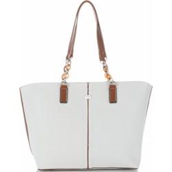 d5348c769522f Shopper bag David Jones matowa bez dodatków ze skóry ekologicznej  mieszcząca a6