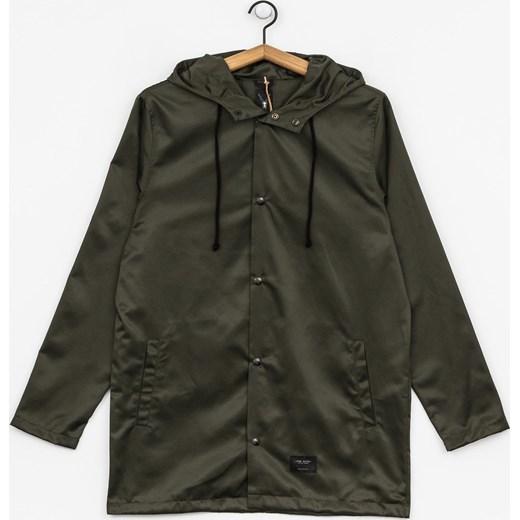 Zielona kurtka męska The Hive z poliamidu bez wzorów Odzież