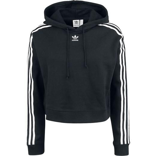 bluza adidas damska czarna krótka z kapturem