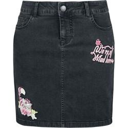 afbb9595c68b2c Spódnica Alicja W Krainie Czarów z aplikacjami jeansowa