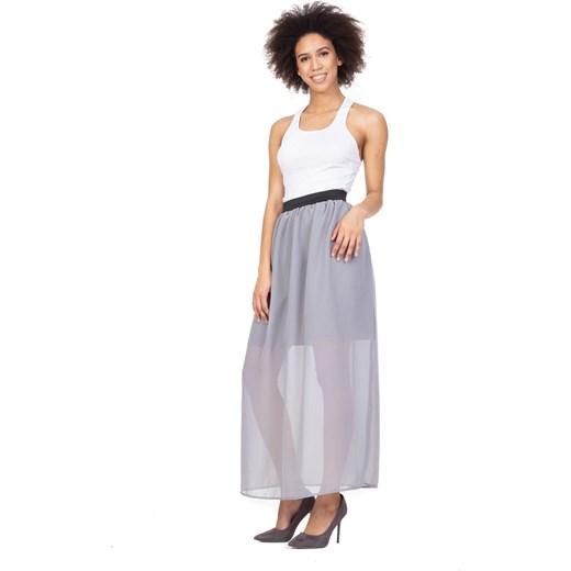 piękny Spódnica Rennwear z poliestru Odzież Damska JC szary Spódnice GAVQ