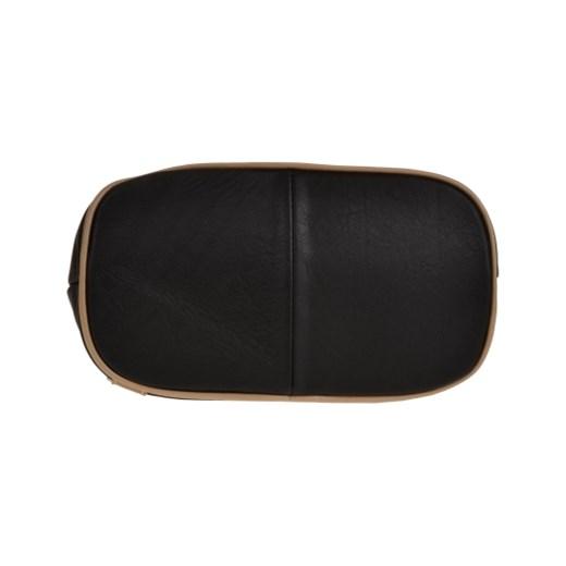 52764898643b4 ... Zgrabny plecak skórzany czarny dwukolorowy lekki Genuine Leather  melon.pl ...