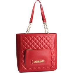 1e204f36c5863 Shopper bag Love Moschino pikowana bez dodatków na ramię ...