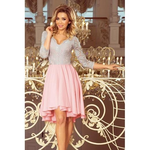 0730289369 Numoco sukienka asymetryczna koronkowa wiosenna  Sukienka Numoco na wesele  ...