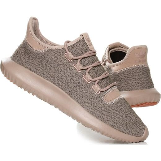 Buty sportowe damskie do biegania adidas tubular brązowe