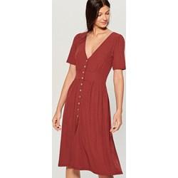 7e259c3601 Sukienka Mohito z krótkim rękawem bez wzorów midi