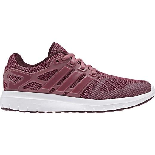 Buty sportowe damskie Adidas do biegania różowe na wiosnę sznurowane gładkie płaskie
