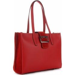 fbb2a4b624ee2 Shopper bag Vittoria Gotti bez dodatków skórzana duża na ramię elegancka
