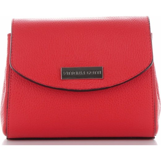 ff66d2eea3c9b Eleganckie Torebki Skórzane Listonoszki VITTORIA GOTTI Made in Italy  Czerwone (kolory) Vittoria Gotti torbs