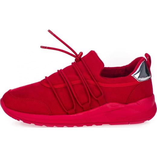 efb9ff04 S.Oliver buty sportowe damskie w stylu casual młodzieżowe czerwone  sznurowane w Domodi