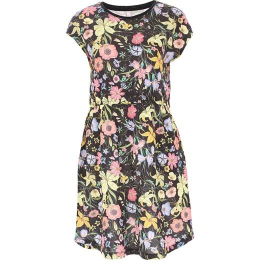 daeda09cab Sukienka Sun68 midi w kwiaty na sylwestra z krótkim rękawem w Domodi