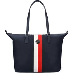 d6c9aa1937326 Shopper bag Tommy Hilfiger duża na ramię bez dodatków