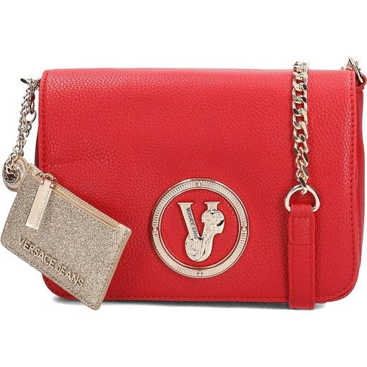 73ea07196aaa5 Listonoszka czerwona Versace Jeans mała na ramię glamour z aplikacjami ze  skóry ekologicznej