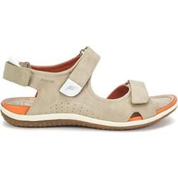 eb4713a0b2048 Geox sandały damskie z niskim obcasem płaskie bez wzorów