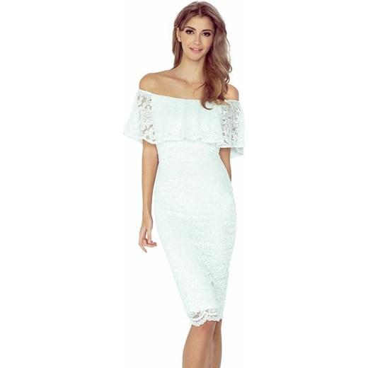 04a755c5dc mm 013-1 sukienka koronkowa - hiszpanka - ecru XS wyprzedaż Moda Dla Ciebie  ...