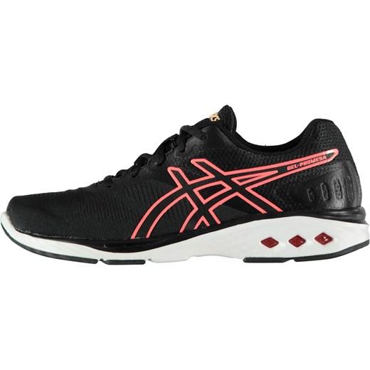 Buty sportowe damskie Asics dla biegaczy bez wzorów sznurowane na płaskiej podeszwie