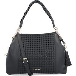 6310d84d2dd48 Shopper bag Liu jo z frędzlami ze zdobieniami średniej wielkości